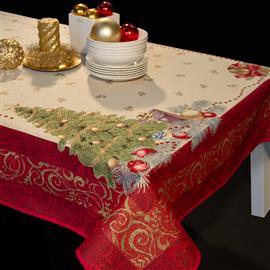 Natale Lusso Ricamato Tovaglia e Accessori