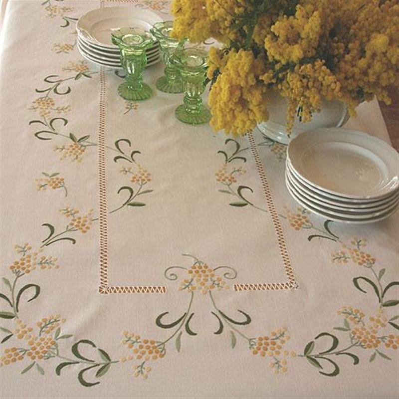 Tovaglia mimose ricami e pizzi - Tovaglie da tavola eleganti moderne ...