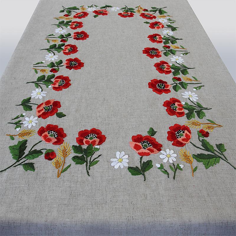 Poppies tablecloth ricami e pizzi for Pizzi uncinetto per tovaglie