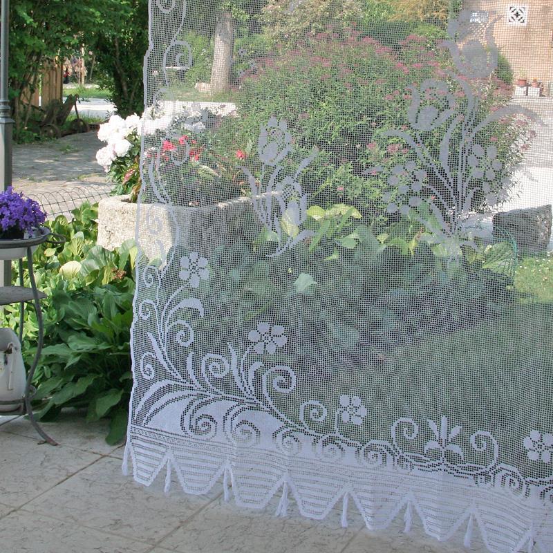 Accessori Bagno Ferro Bianco : Tenda filet tulipano ricami e pizzi